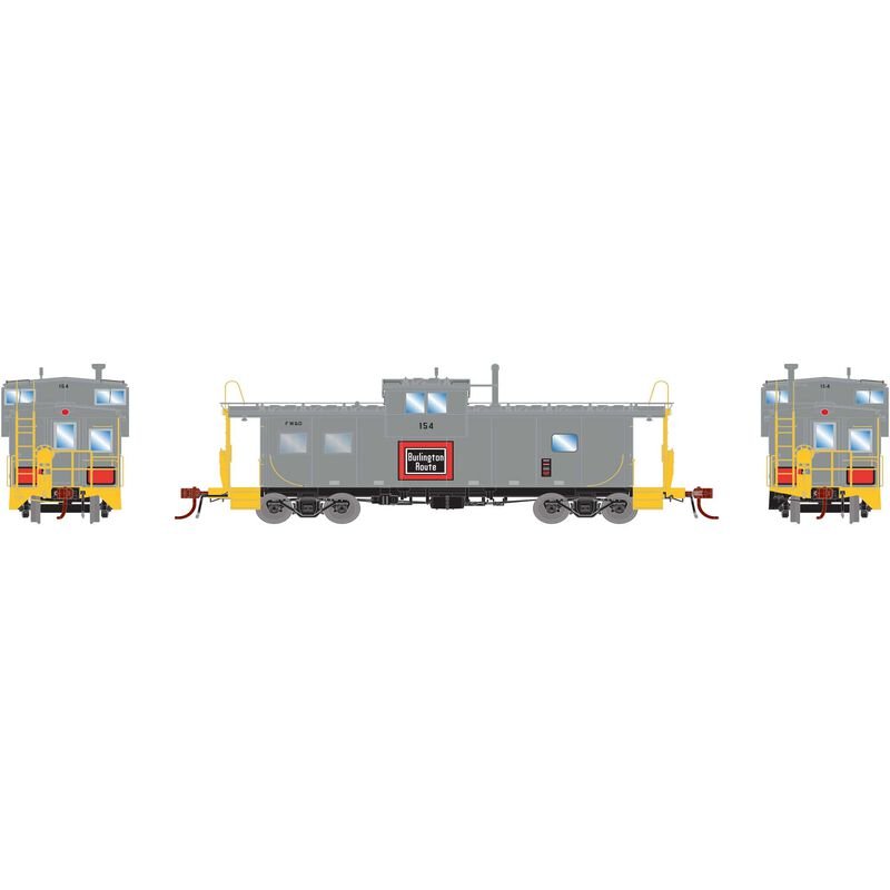 HO ICC Caboose with Lights & Sound FW&D #154