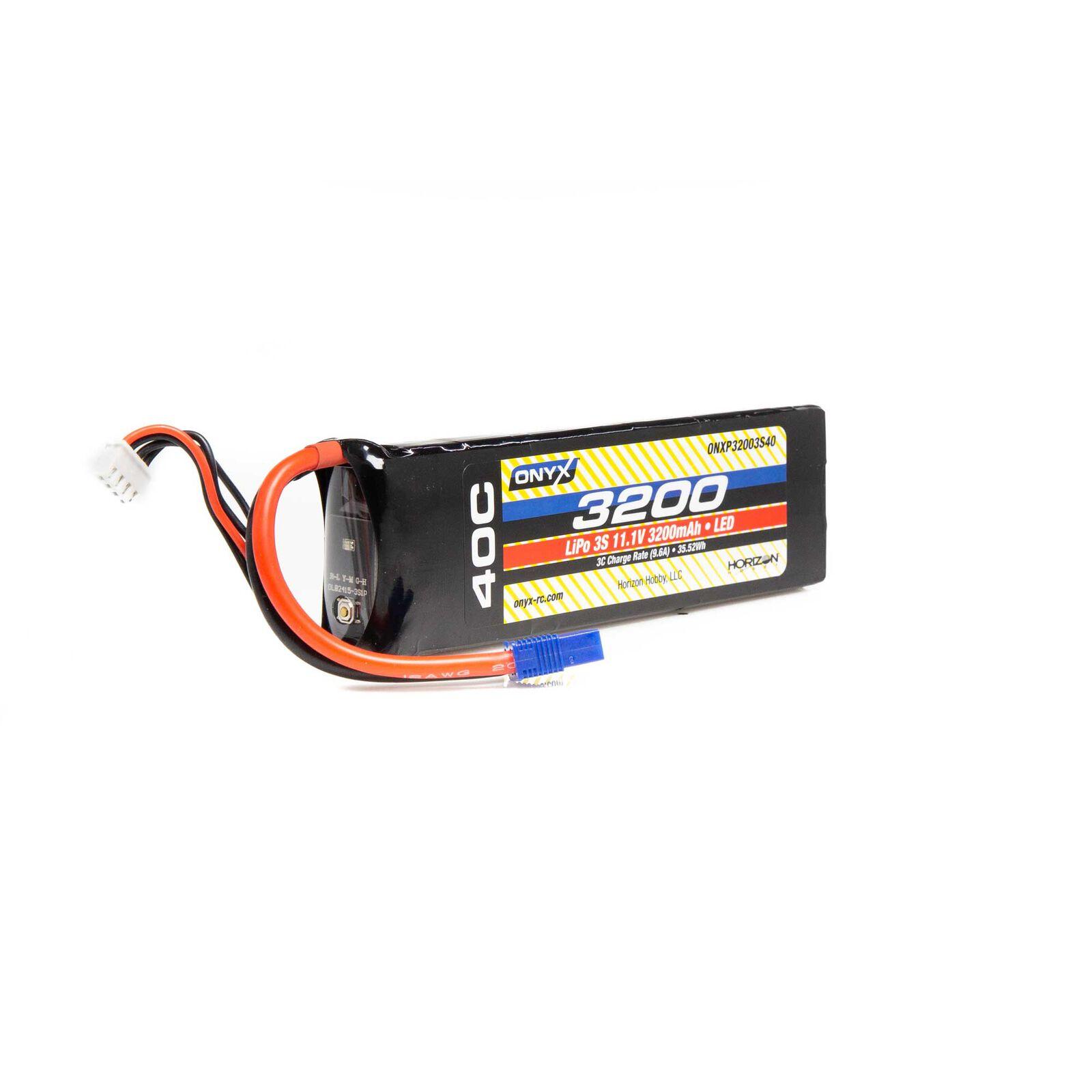 11.1V 3200mAh 3S 40C LiPo Battery: EC3