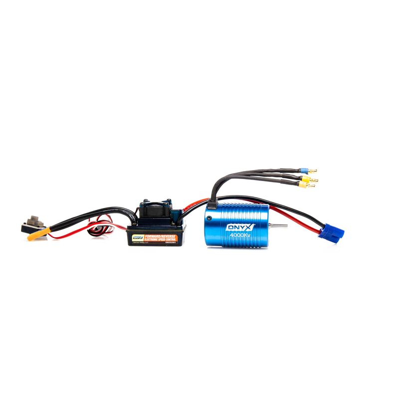 1/10 4-Pole ESC/Brushless Motor Combo, 4000Kv: 3.5mm Bullet, EC3