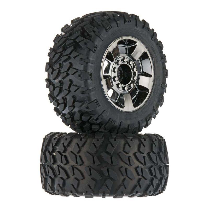 1/8 dBoots Ragnarok Front/Rear 3.8 Pre-Mounted Tires, 17mm Hex (2)