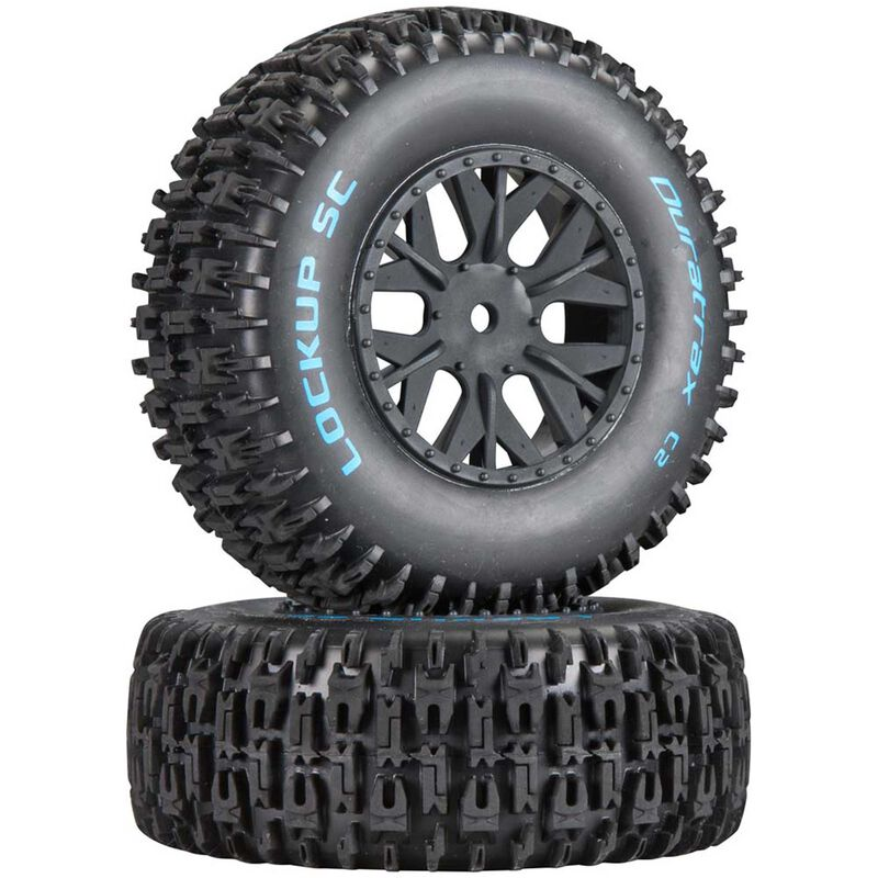 Lockup SC Tire C2 Mounted: SC10 4x4 (2)