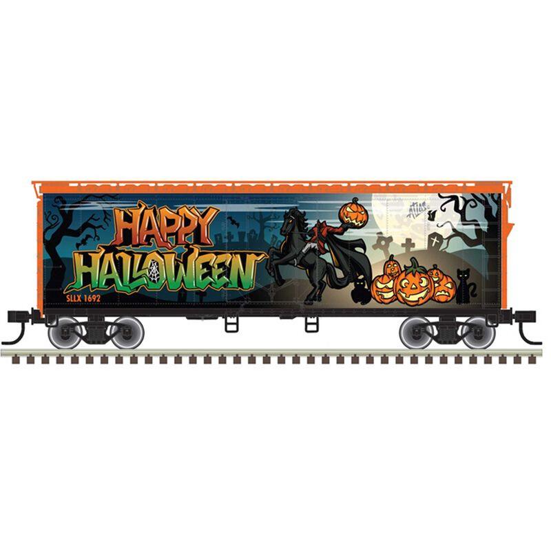HO Trainman 40' Plug Door Box Car Halloween