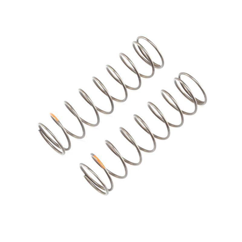 16mm EVO Rear Shock Spring, 4.0 Orange (2): 8B 4.0