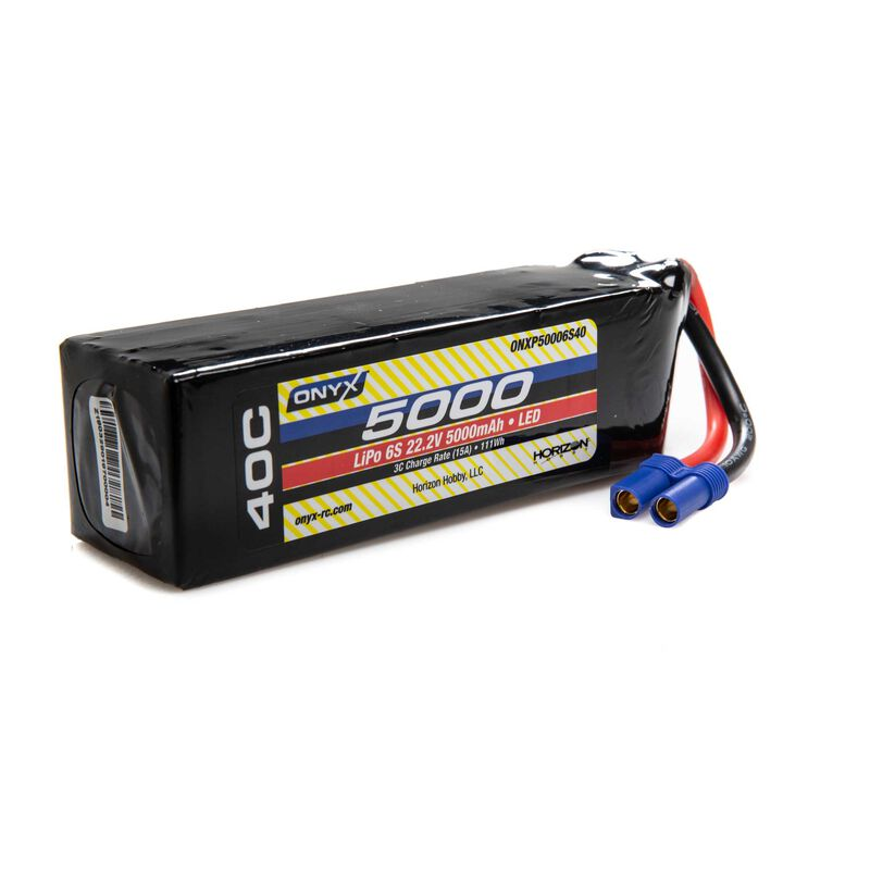 22.2V 5000mAh 6S 40C LiPo Battery: EC5