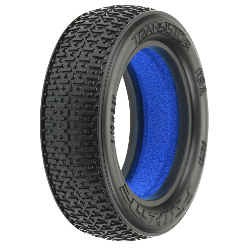 1/10 Front Transistor 2.2 2WD X2 Tires with Closed Cell Foam inserts: Off-Road Buggy (2)
