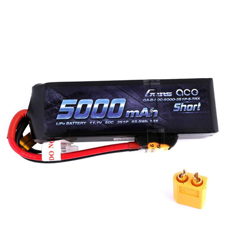 11.1V 5000mAh 3S 50C Lipo: XT60