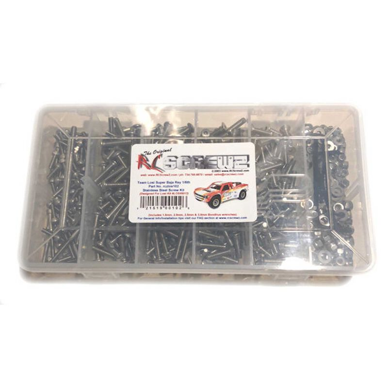 Stainless Steel Screw Set: Losi Baja Rey 1/6