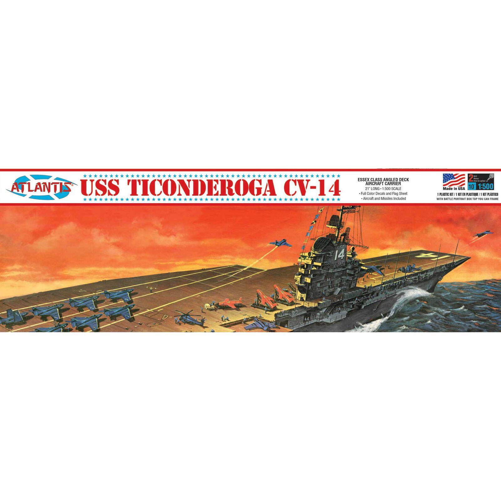 USS Ticonderoga CV-14 Aircraft Carrier 1 500