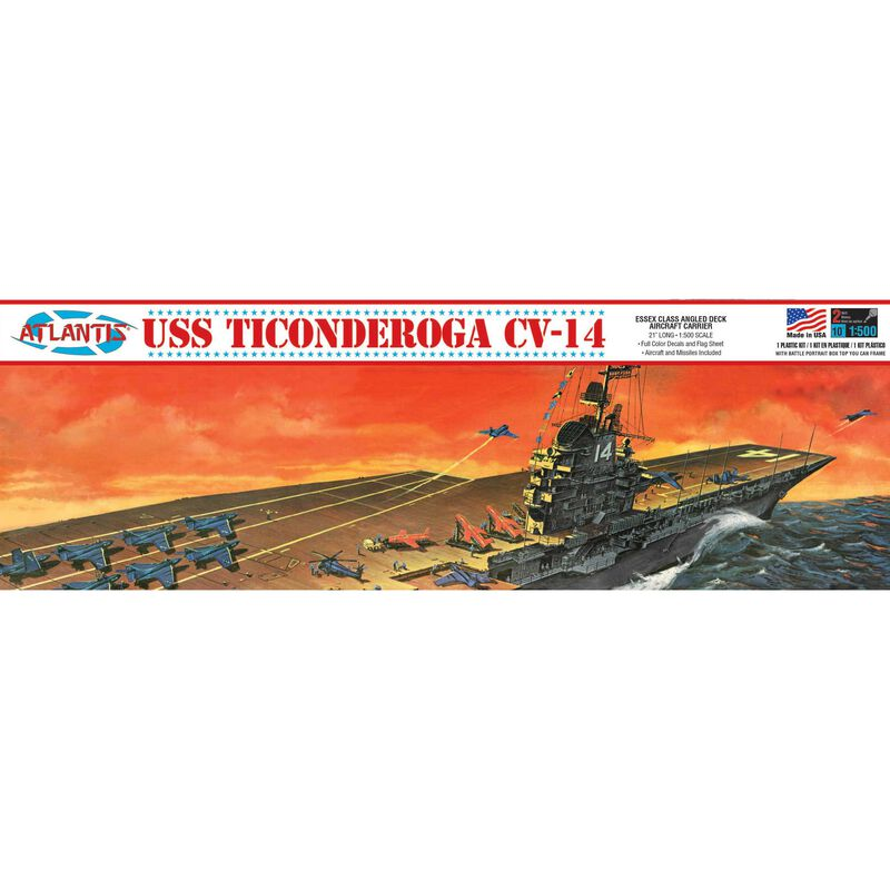 USS Ticonderoga CV-14 Aircraft Carrier 1 500