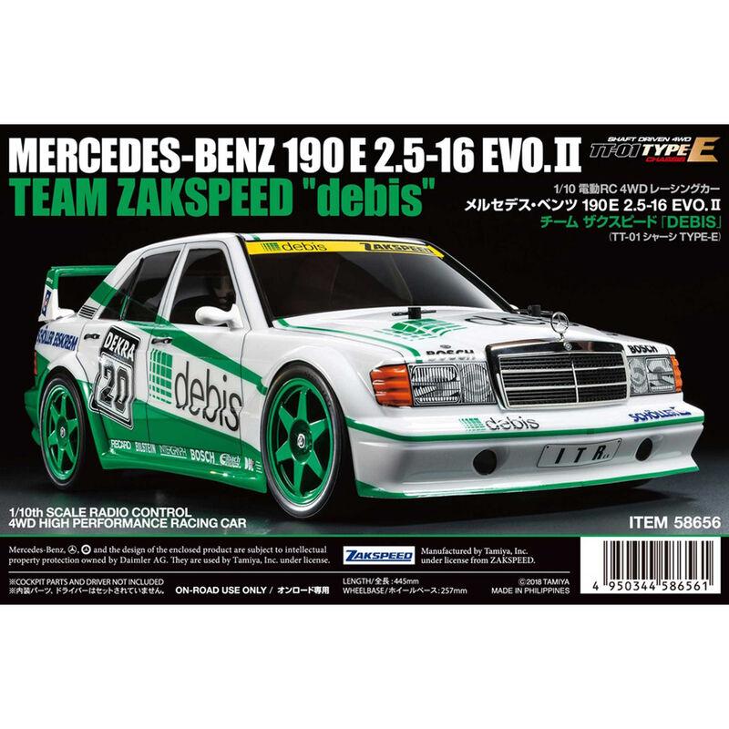1/10 Mercedes-Benz 190 E 2.5-16 EVO.II Zakspeed Debis 4WD TT-01 Kit (Type-E)