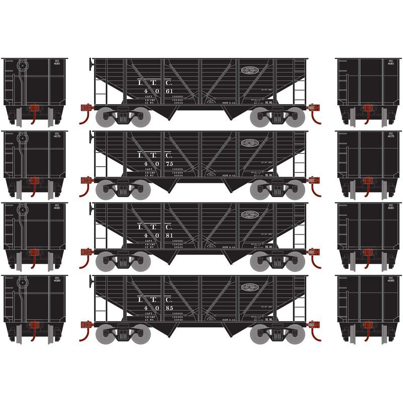HO 34' 2-Bay Hopper with Coal Load ITC #2 (4)