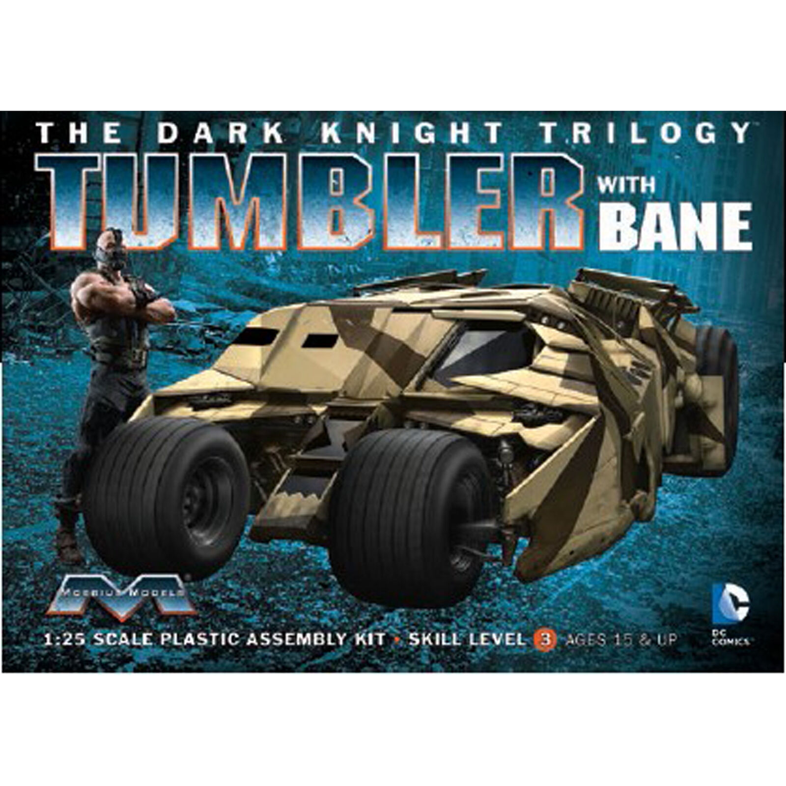 1/25 Dark Knight Armored Tumbler with Bane