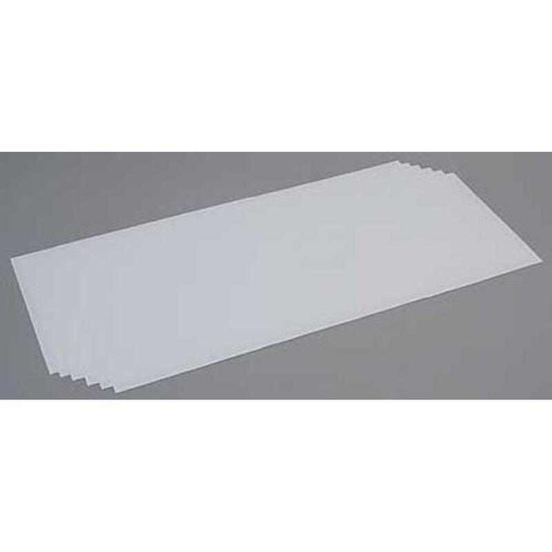 White Sheet .020 x 8 x 21 (6)