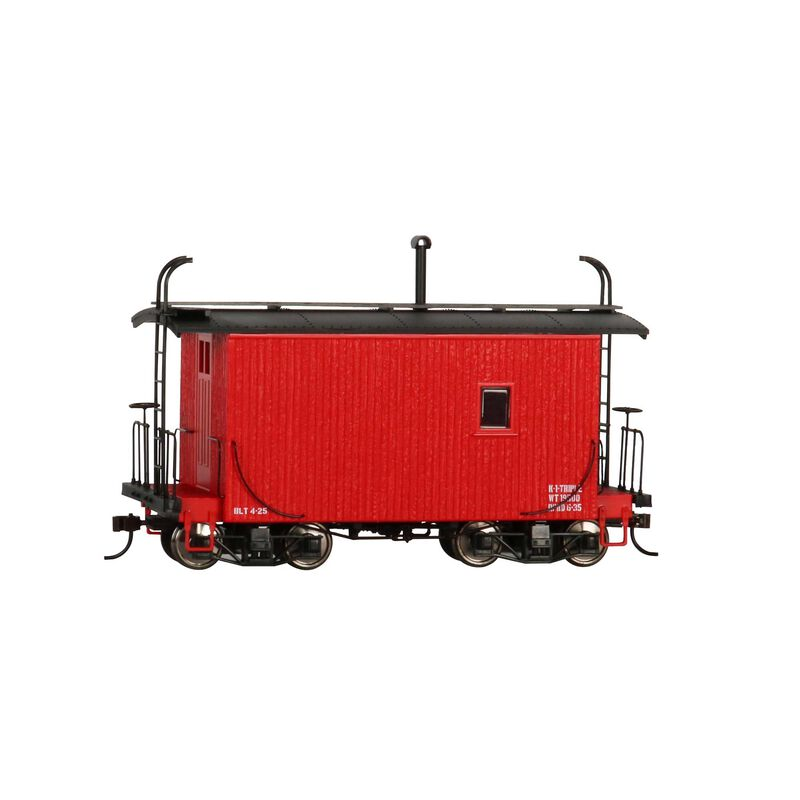 On30 18' Logging Caboose Red Data Only
