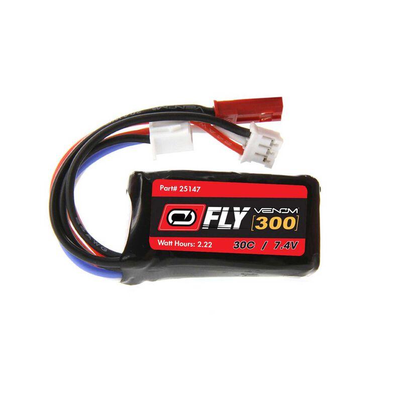7.4V 300mAh 2S 30C LiPo Battery: JST, PH Plug (2)