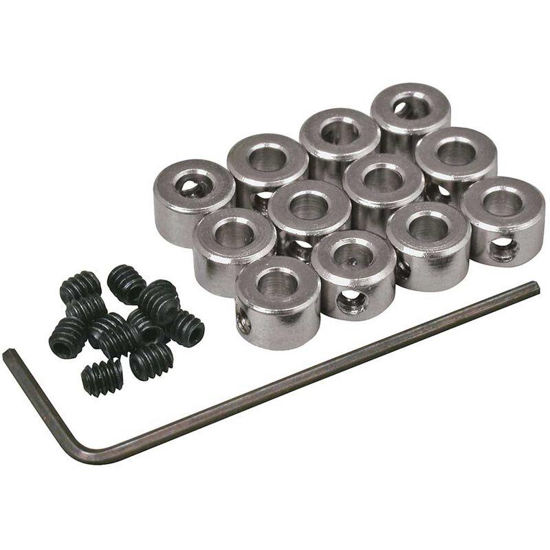 "Plated Wheel Collars 1/8"" (12)"