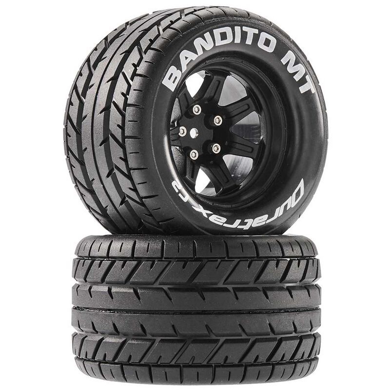 Bandito MT 2.8 Mounted Tires,Black 14mm Hex (2)
