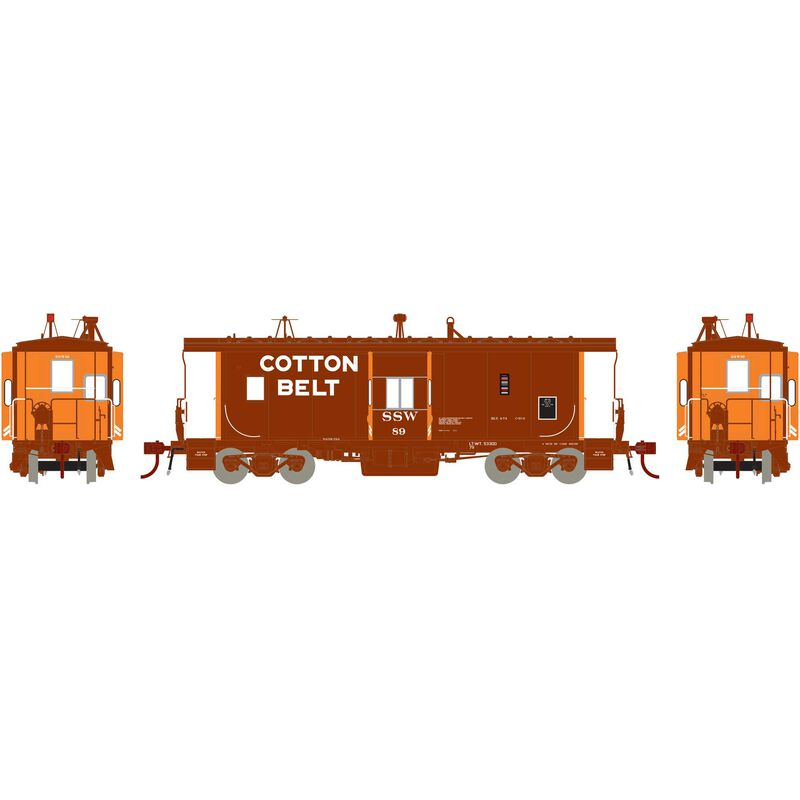 HO ICC Caboose with Lights & Sound SSW #89