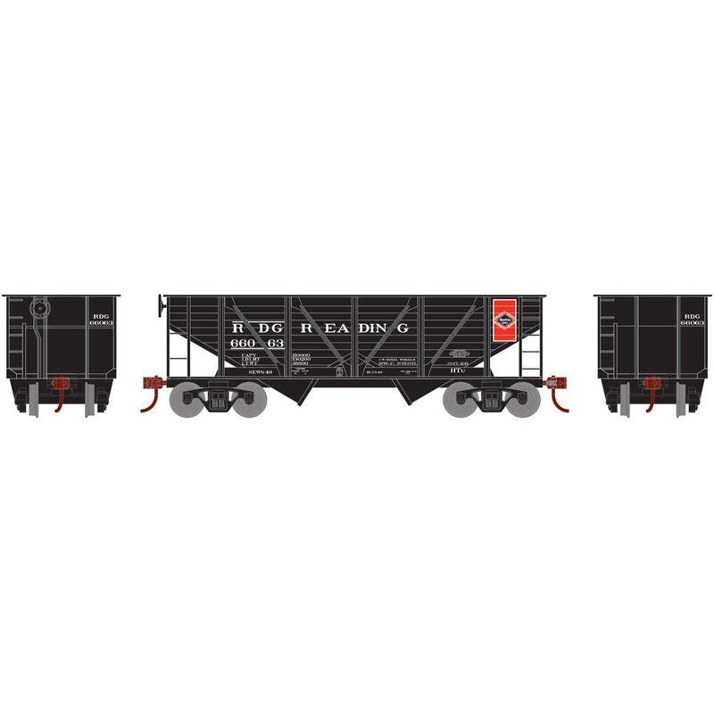 HO 34' 2-Bay Hopper with Coal Load RDG #66063