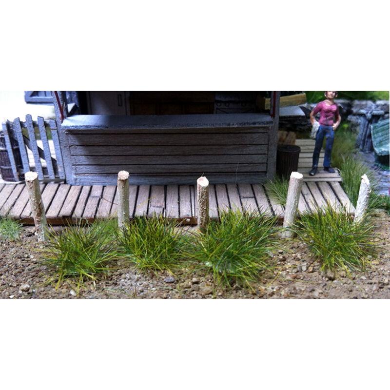 6mm Grass Tufts Medium Green (100)