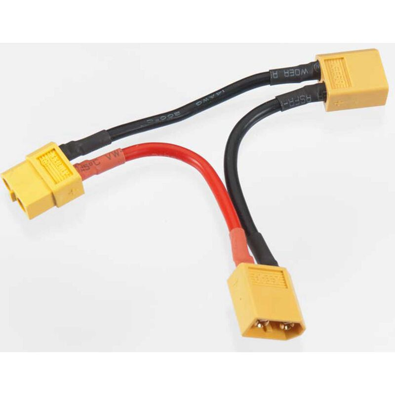 XT60 Series 2-Battery Connector Adapter Wire Harness
