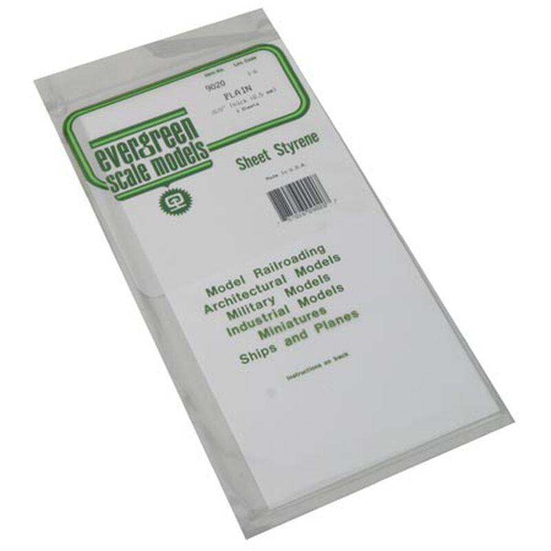 White Sheet .020 x 6 x 12 (3)