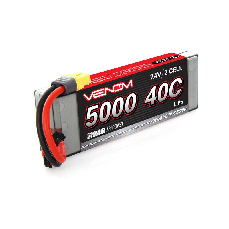 7.4V 5000mAh 2S 40C DRIVE Sport Power LiPo Battery: UNI 2.0 Plug