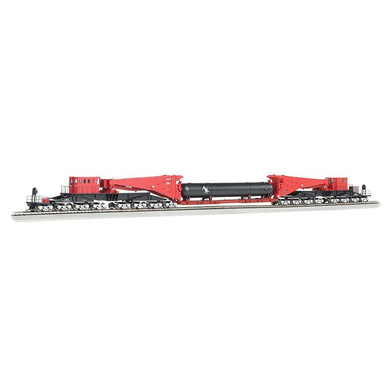 HO Spectrum Scnabel w/Retort/Cylider Load, Red/Blk