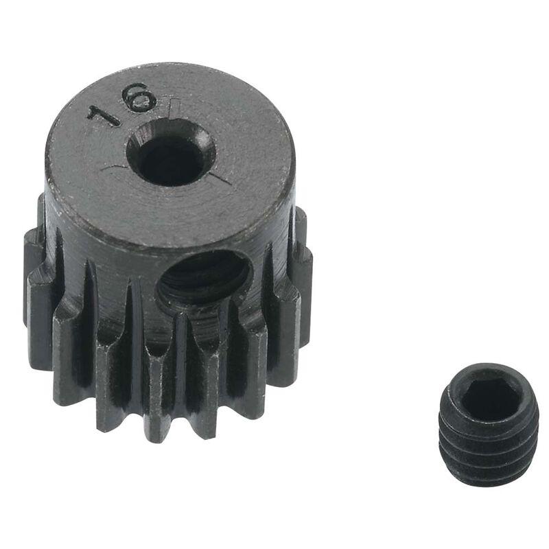 0.5 Module Hard Blackened Steel Mini Pinion 2mm, 16T