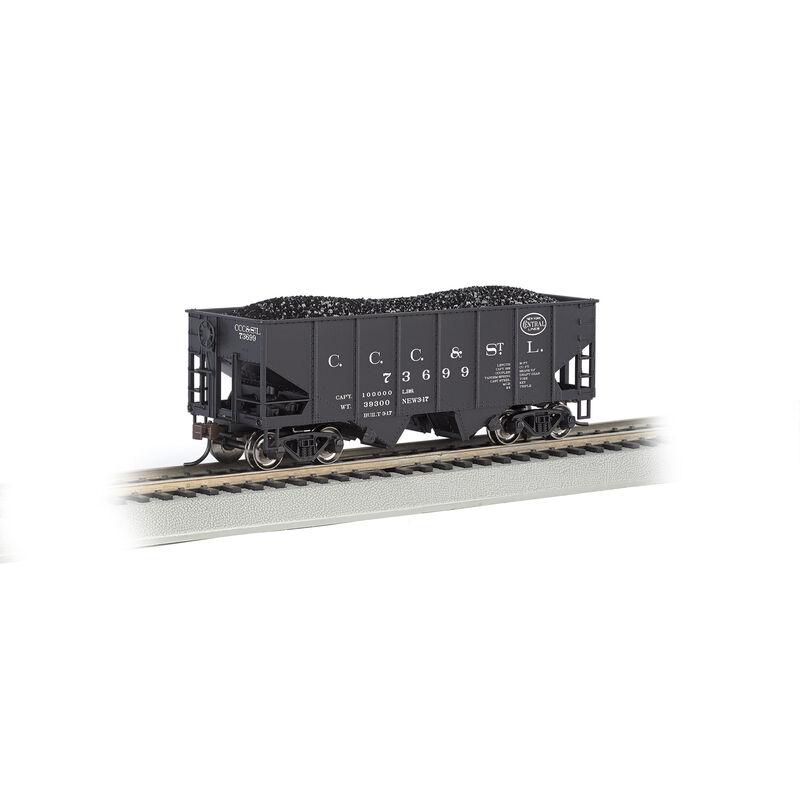 HO 55-Ton 2-Bay Hopper w/Coal Load, NYC/Big Four