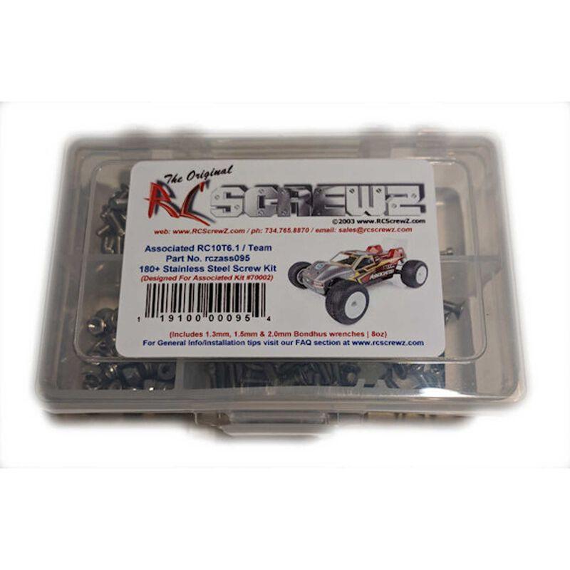 Stainless Steel Screw Set: Team Associated RC10T6.1 Team 1/10