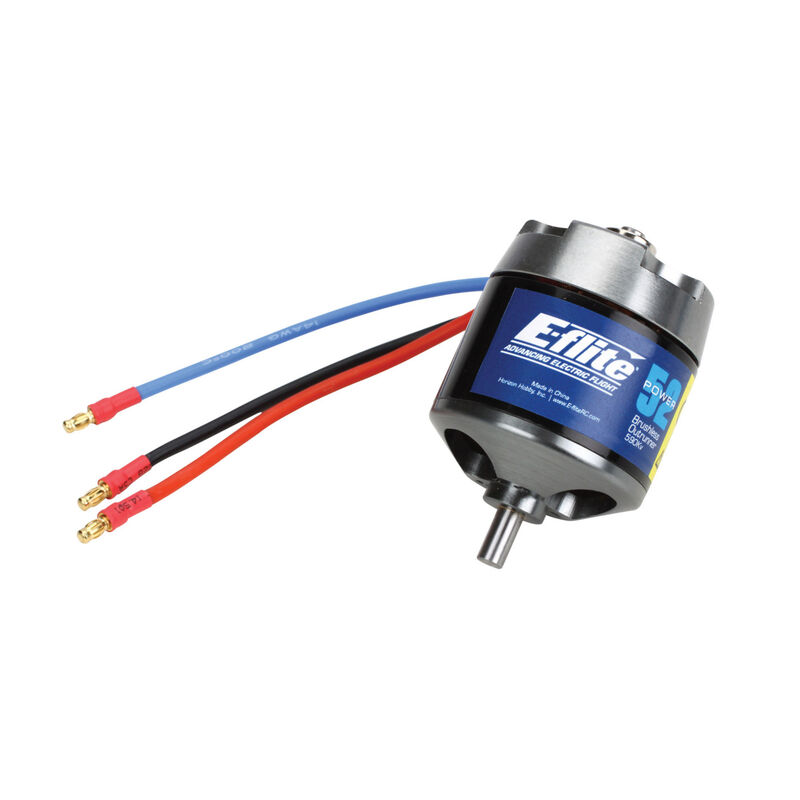 Power 52 Brushless Outrunner Motor, 590Kv: 4mm Bullet