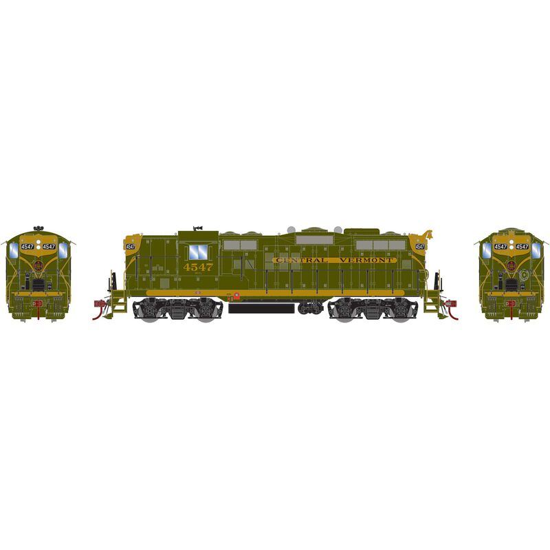 HO GP9 with DCC & Sound CV, Green/Gold #4547