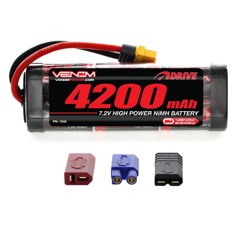 7.2V 4200mAh 6-Cell DRIVE Flat NiMH Battery: UNI 2.0 Plug