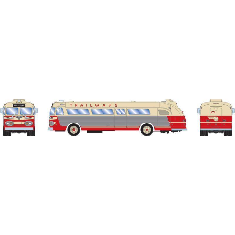 HO RTR Intercity Bus Santa Fe Trailways LA #1