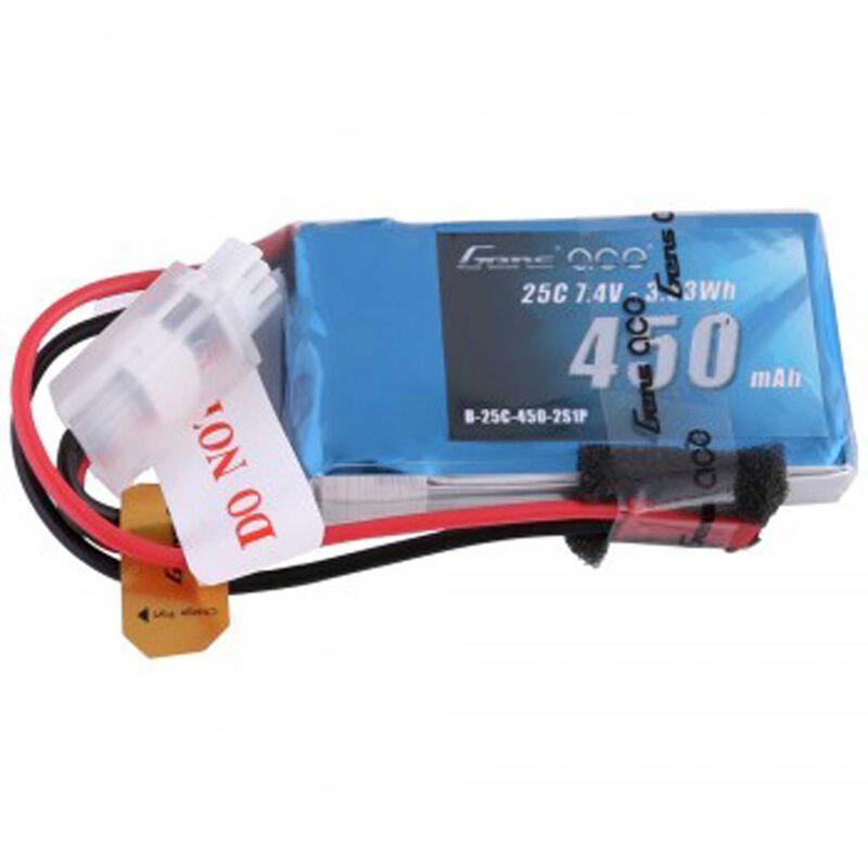 7.4V 450 Capacity 2S Voltage 25C Rate JST
