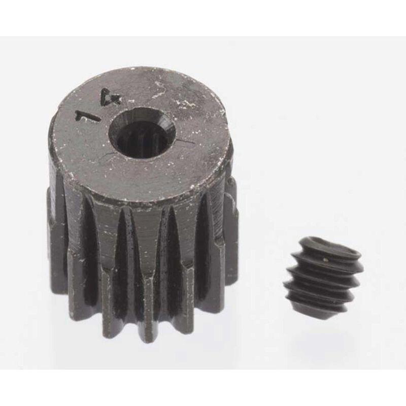 0.5 Module Hard Blackened Steel Mini Pinion 2mm, 14T