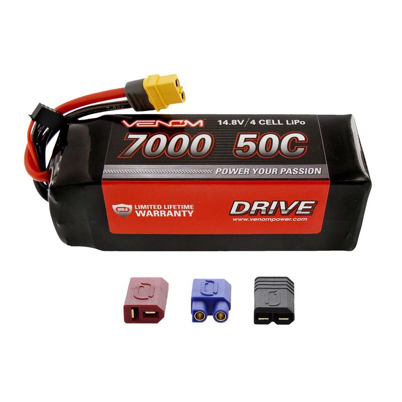 14.8V 7000mAh 4S 50C DRIVE LiPo Battery: UNI 2.0 Plug