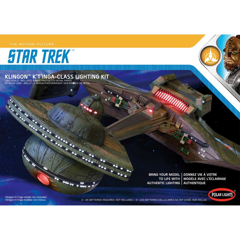 1/350 Star Trek Klingon K't'inga Lighting Kit