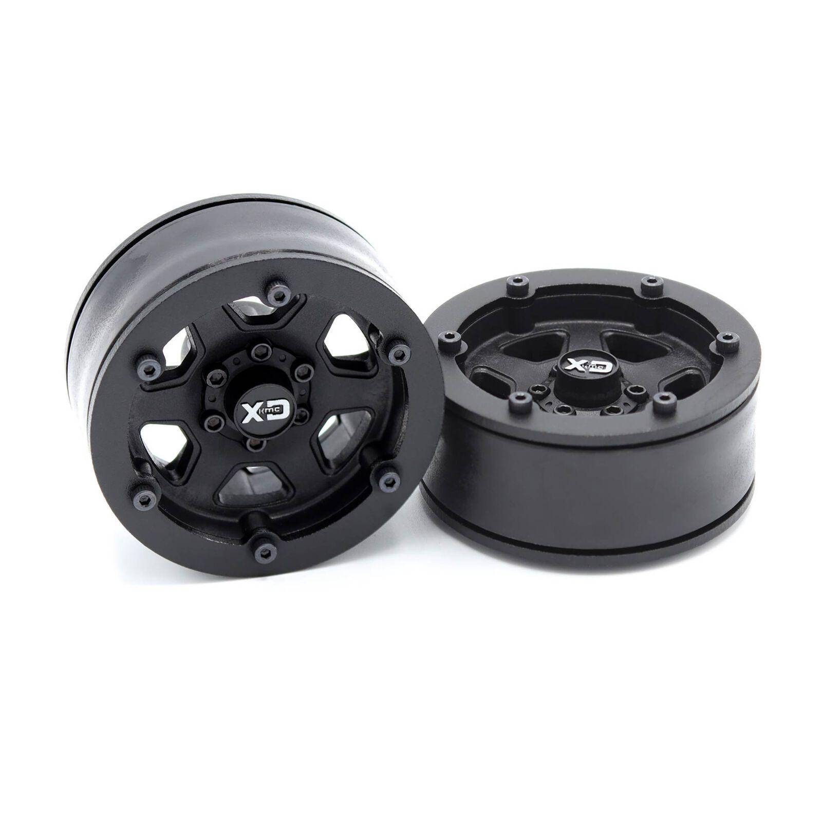 "Incision 1.9"" KMC KM233 Hex Plastic Wheels, Black"