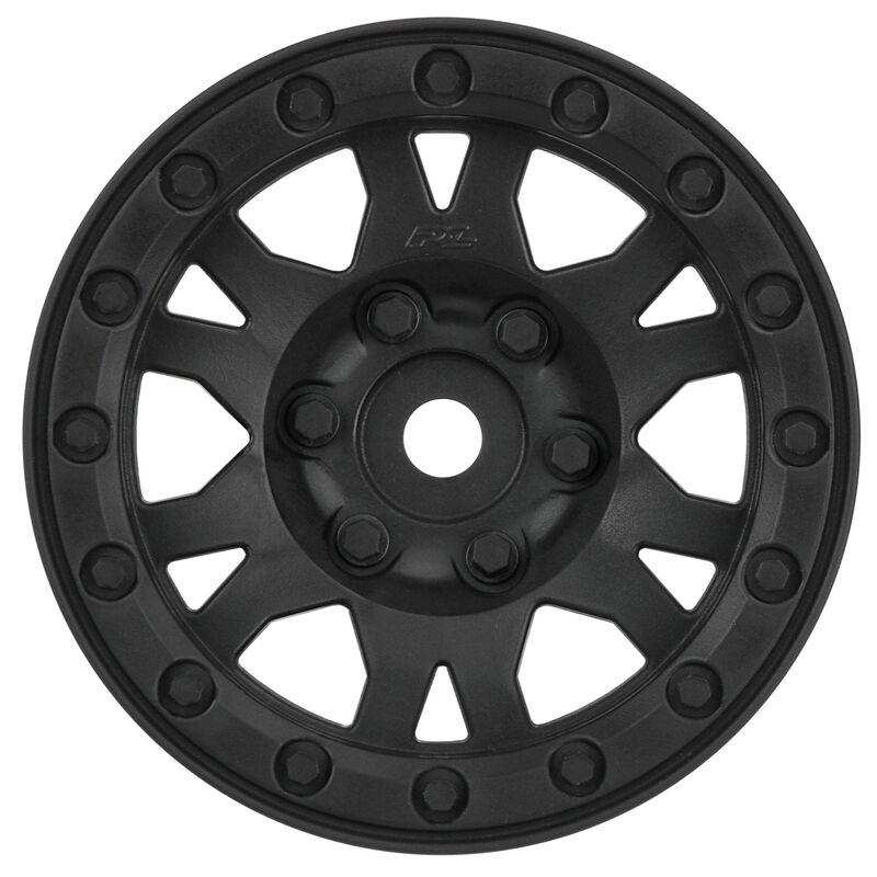 Impulse 1.9, Plastic, Black, Bead-Loc, Front/Rear Wheels (2): Crawler