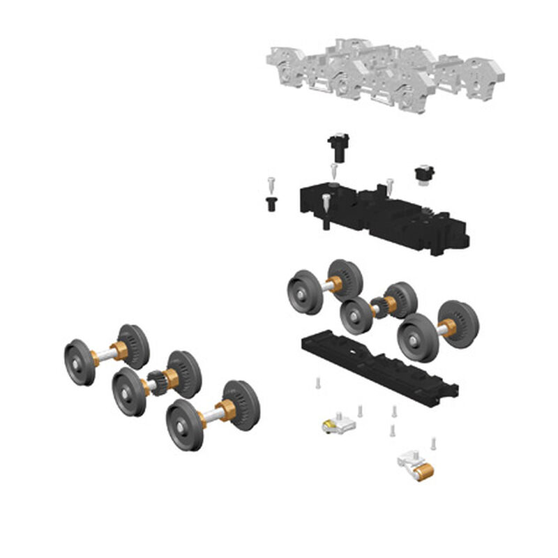O ProtoScale 3-2 6-Wheel Truck Wheel Set