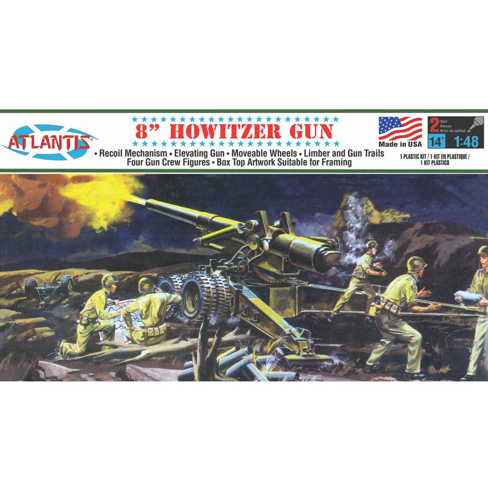 """8"""" Howitzer Gun Plastic Model kit 1/48"""