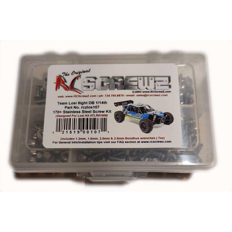 Stainless Screw Kit: Losi Mini 8ight DB 1/14th
