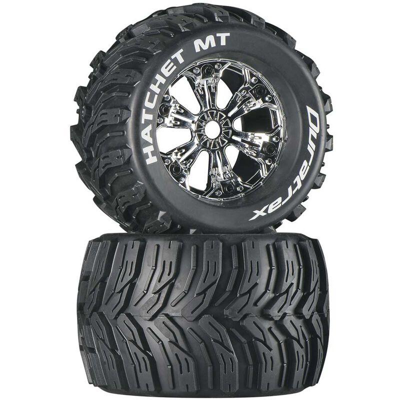 "Hatchet MT 3.8"" Mounted Tires, Chrome (2)"