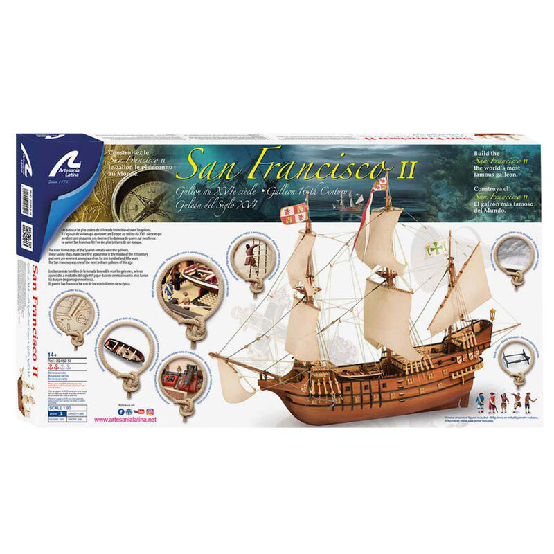 1 90 San Francisco II Wooden Model Ship Kit
