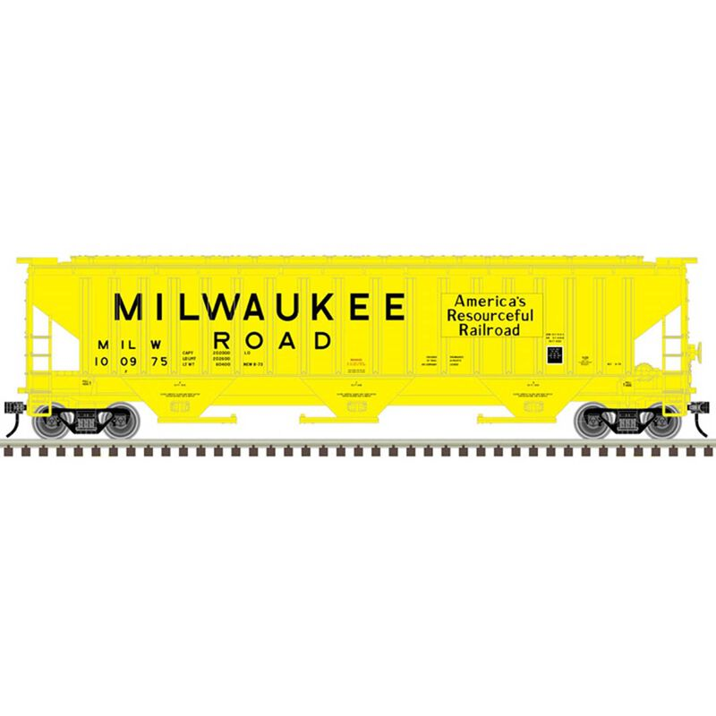O PS4750 Covered Hopper 2-Rail Milwaukee Road