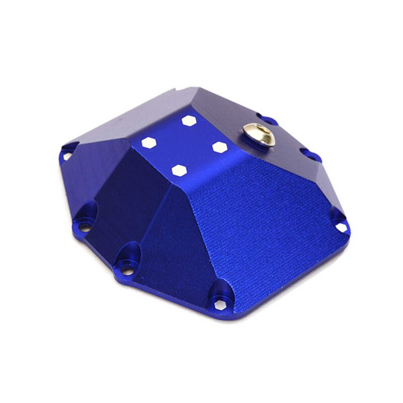 Mach Alloy Differential Cover, Blue: Yeti RR10 & Wraith