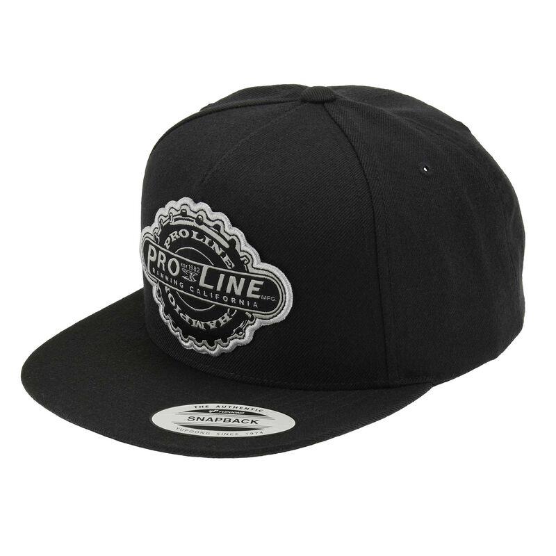 Manufactured Black Snapback Hat