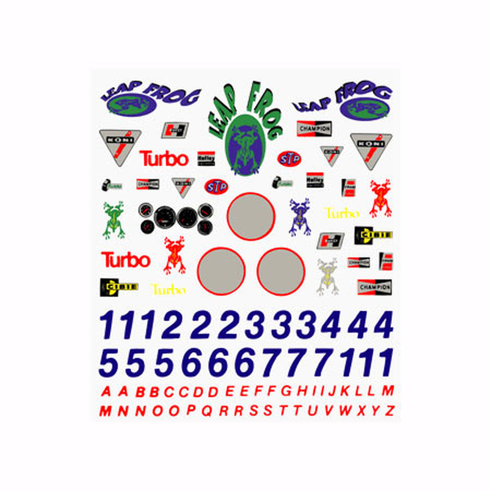 Dry Transfer Decals, Sponsors & Numbers